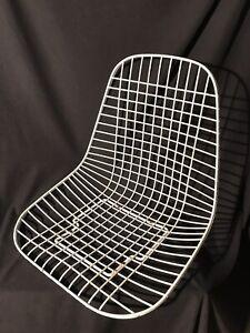 1 STUHL Schale Charles Eames / Wire Chair Gitterstuhl 60ern