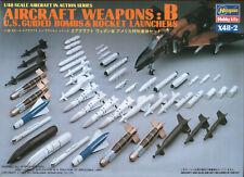 HAX4802 NEW Hasegawa 1:48 Aircraft Weapons B U.S Guided Bombs & Rocket Launchers
