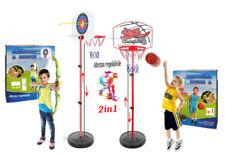 Panier Basket-Ball + Cible Arc Flèches Taille Réglable CM 73-150 Lampadaire