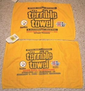 PITTSBURGH STEELERS SUPER BOWL XL TERRIBLE TOWELS GAME SCORE AND PRE GAME