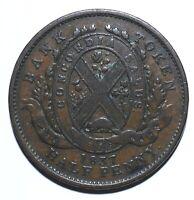 1837 Canada Half 1/2 Penny / 1 Sou City Bank - Lot 1210