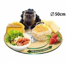 TEMPERED GLASS LZY LAZY SUSAN TURNTABLE DINING KITCHEN DININGWARE 50cm