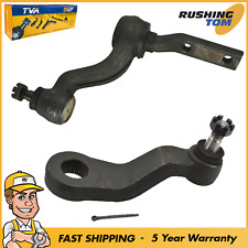 Front Steering Kit Idler Pitman Arm Set 2Pc Pair Fits Chevy GMC Pickup Truck SUV