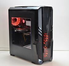 RGB GAMING PC Intel QUAD i5-3470 8 GB DDR3 120 GB SSD 4 GB GTX 1050Ti Windows 10
