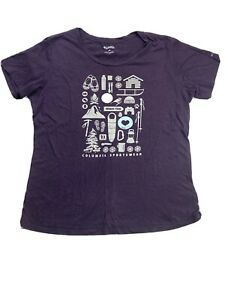 Columbia Top Short Sleeve Pullover Crew Tee Women's Size Large