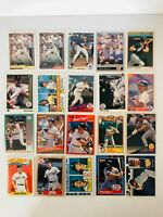 Lot of 20 Different Wade Boggs Boston Red Sox Yankees 80's & 90's HOF