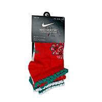 Nike Kids 3 pack youth low cut socks holiday red white green