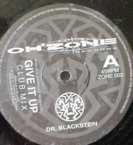 """DR BLACKSTEIN - Give It Up - 12"""" Single"""
