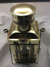 Vintage Brass & Glass Ship /Marine  Oil Lamp Lanterns
