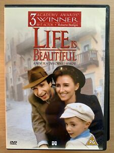 Life is Beautiful DVD 1997 Italian Holocaust Movie Classic w/ Roberto Benigni