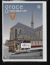SAN FRANCISCO MUNI CABLE CAR TO GRACE CATHEDRAL NOB HILL NOTECARD/ENVELOPE