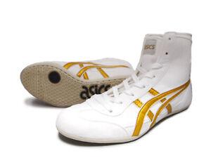 ASICS JAPAN Wrestling shoes EX-EO TWR900 original color white x gold x white NEW
