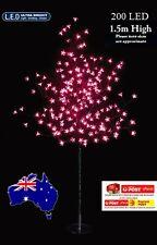 2x 1.5M 200LED PINK  SOLAR CHERRY BLOSSOM CHRISTMAS TREE(2 Trees)