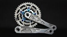 Vintage Adventure Components AC MTB crankset, anodized blue spider, SUGINO rings