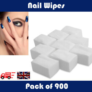 900 Pack Quality Lint Free Nail Wipes Soft Dry Wipes Acrylic Gel Polish Remover