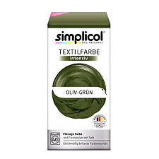 Simplicol Textile Intensive all in 1 Olive Green Colour Incl. 400g Fixierpulver