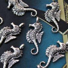 Accessories Tibetan Silver Tone Antiqued Charms Seahorse Pendants 10pcs