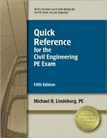 Quick Reference for the Civil Engineering Pe Exam by Lindeburg