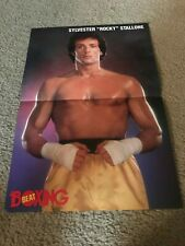"Vintage 1980s SYLVESTER STALLONE ""ROCKY"" Mini Poster Movie BOXING RARE"