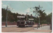 A Trip Round Blackpool Tram Postcard, B651
