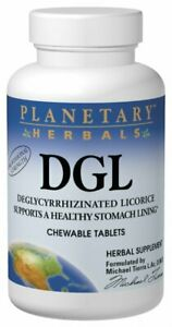 Planetary Herbals DGL, Deglycyrrhizinated Licorice, 200 Chewable Tablets