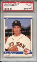 1984 Fleer Update Baseball #U27 Roger Clemens Rookie Card XRC Graded PSA MINT 9