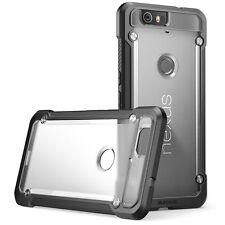 Nexus 6P Case Slim Bumper Shock Proof Transparent Anti scratch Frost/Black New