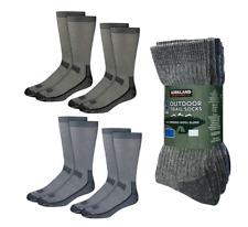 KIRKLAND 4 Pack Outdoor Walking Hiking Socks Merino Wool Mens Size 10 - 13 🇺🇸