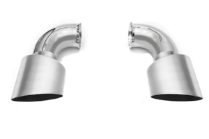 Fabspeed Porsche 993 Turbo Muffler Bypass With Brushed Stainless Tips (1995-1998