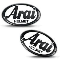 2 Resinati 3D Adesivi Arai Helmet Casco Logo Auto Moto Bici Sponsor Gara Corsa