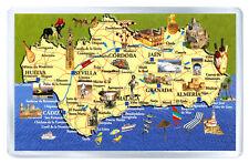ANDALUCIA ESPAÑA MAP FRIDGE MAGNET SOUVENIR IMAN NEVERA