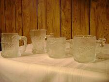 McDonalds 1993 FlintStones glass Mugs set of 4