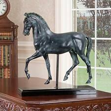 Classical Horse Study Design Toscano Sculpture Finished In Faux Verdigris Bronze