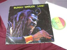 Bunny Wailer  LIVE!  -  LP Solomonic UK yellow vinyl