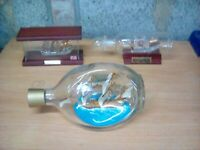 Vintage SHIP IN A BOTTLE HAIG & HAIG  Dimple Whisky Bottle, plus 2 other items