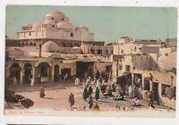 Tunis Place Bab Soulka Mosque Sisi Mahres Tunisia Vintage Postcard US050