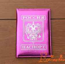 New Russia national emblem Passport Holder glossy Protector leather Cover Wallet
