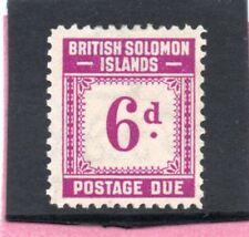 Solomon Isles GV1 1940 postage due 6d sg D6 VLH.Mint