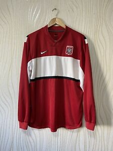 POLAND 1998 1999 AWAY FOOTBALL SHIRT SOCCER JERSEY LONG SLEEVE NIKE sz XL