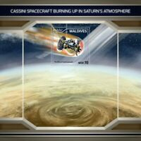 Maldives - 2018 Cassini Spacecraft - Stamp Souvenir Sheet - MLD18112b