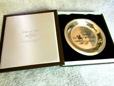 "Franklin Mint Sterling Silver Plate ""Riding To The Hunt� by James Wyeth 1974"