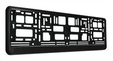 black number plate surround frame holder
