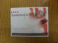 18/10/1997 Ticket: Sunderland v Huddersfield Town. Any faults are noted in brack