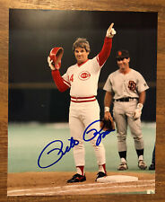 Pete Rose Autographed 8x10 Signed Baseball Photo Photograph Cincinnati Reds MLB