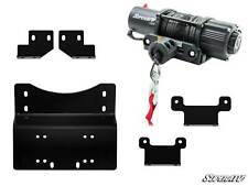 SuperATV Winch Mounting Plate & 4500 lb. Winch for Honda Pioneer 700 (2014+)