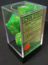 More details for chessex dice: vortex slime / yellow dice block (rpg set - 7 dice)