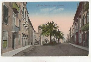 Piaza Castillo Las Palmas Spain Vintage Postcard US025
