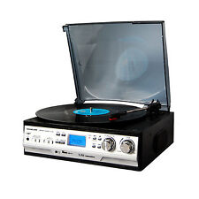 SOUNDLOOK SLT-2080 Digital Classic LP Turntable Radio Audio USB/SD Built-in 3W