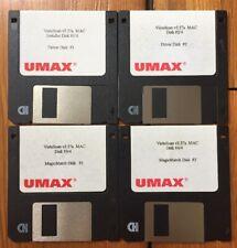 Vintage 1996 Umax Vista Scan v2.27a Scanner 3.5 Floppy Disk Mac Macintosh
