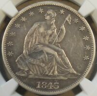 1843 Seated Liberty Half Dollar 50c NGC Certified XF40